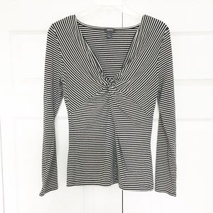 Kenneth Cole | Striped Long Sleeve Blouse